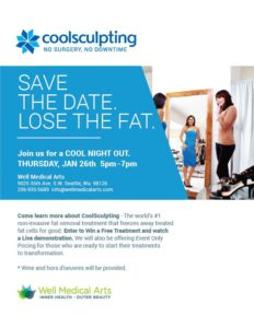 Come learn more about CoolSculpting - The world's #1 non-invasive fat removal treatment that freezes away treated fat cells for good. Enter to Win a Free Treatment and watch a Live demonstration. We will also be offering Event Only Pricing for those who are ready to start their treatments to transformation.