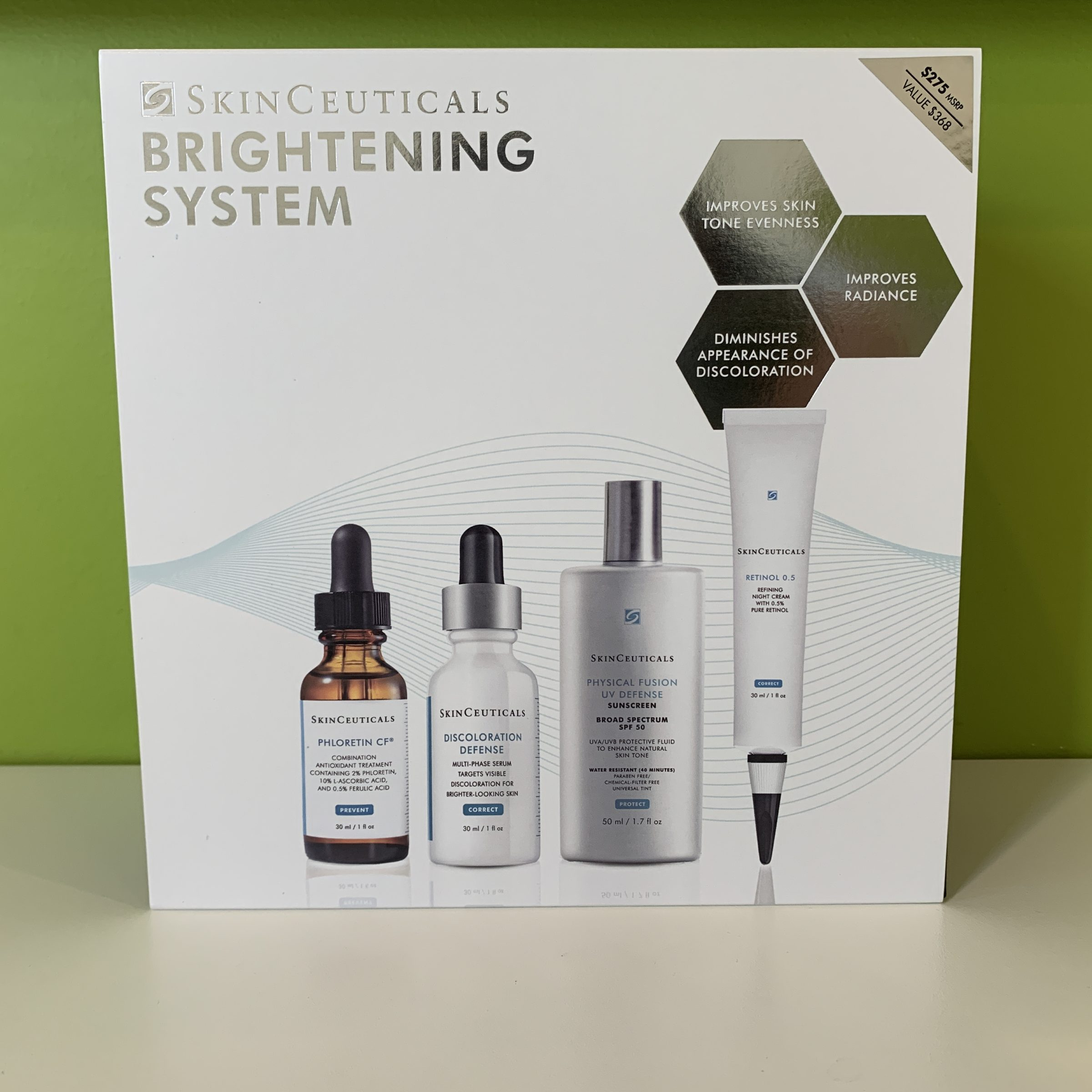 Brightening SKin System SkinCeuticals' Brightening Skin System Is A Four-step Regimen That Combats The Appearance Of Discoloration And Skin Tone Unevenness